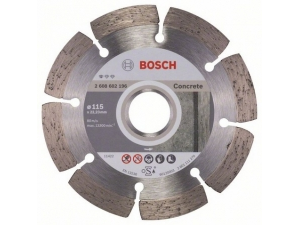 Диск алмазный BOSCH Standard for Concrete 115х22.23 мм по бетону 2 608 602 196